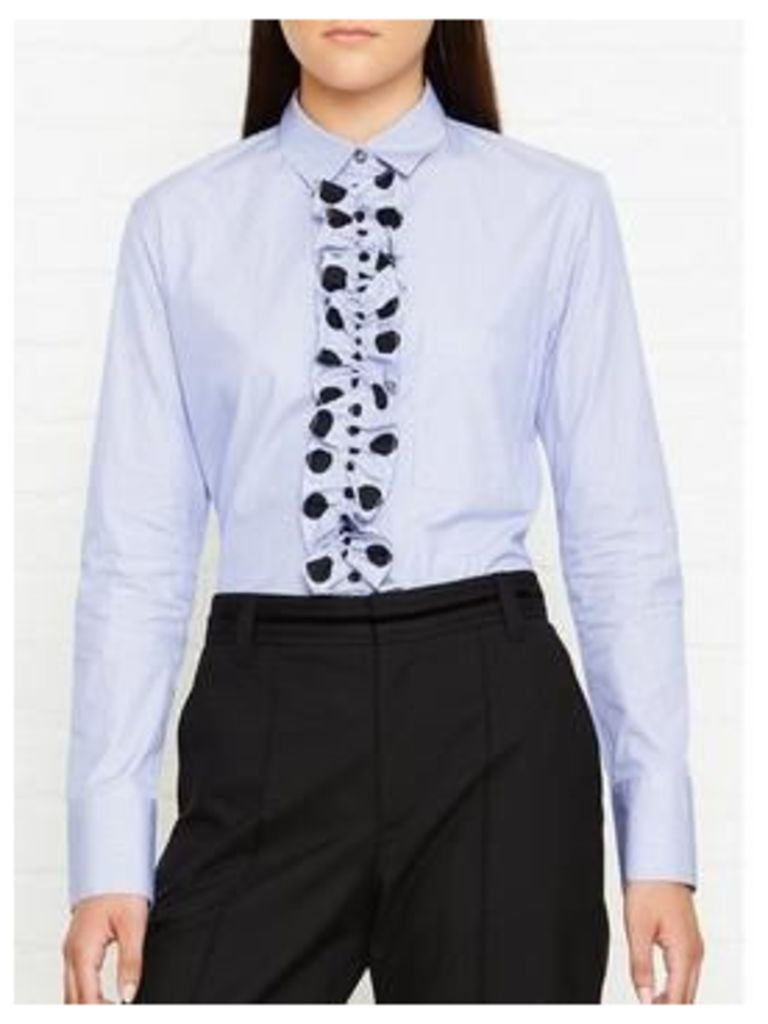 Ps By Paul Smith Striped Frill Shirt - Blue/Black
