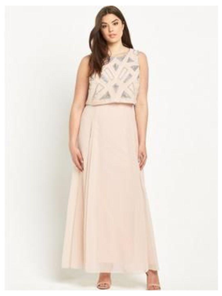 So Fabulous Embellished Maxi Dress