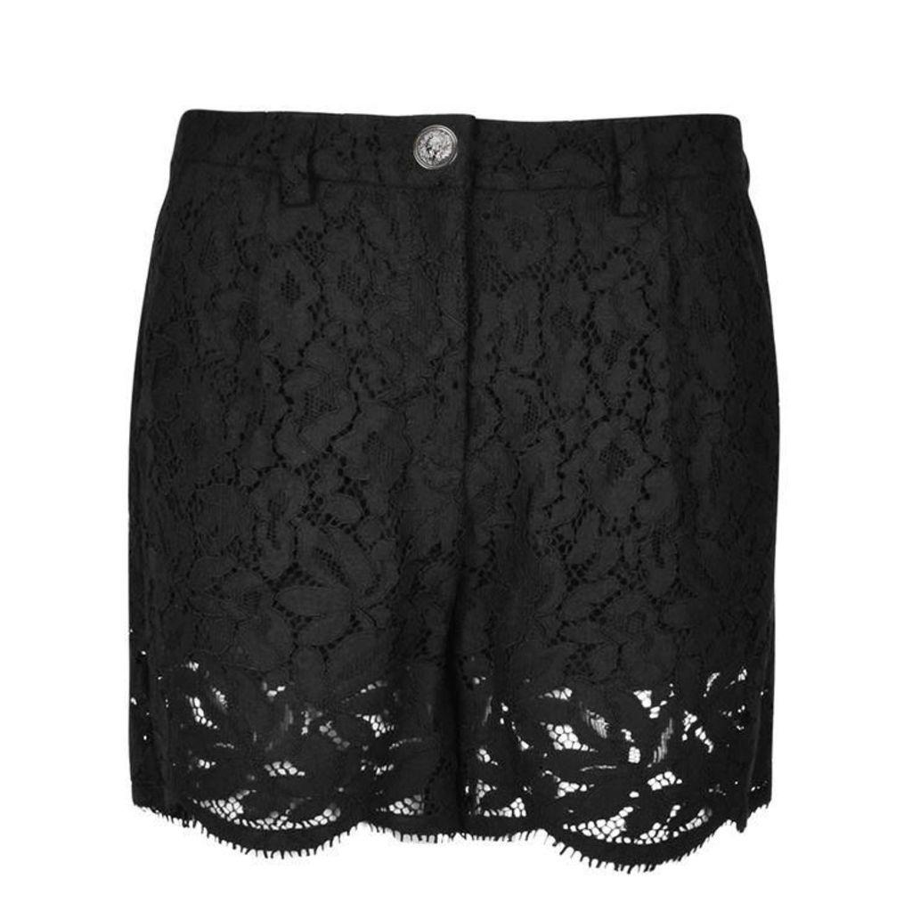 VERSUS VERSACE Floral Lace Shorts