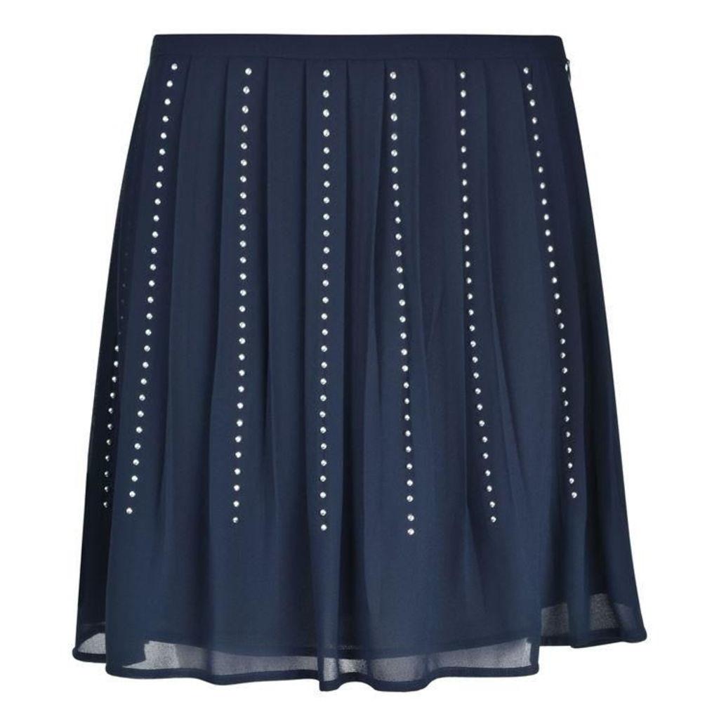 MICHAEL MICHAEL KORS Pleated Stud Skirt
