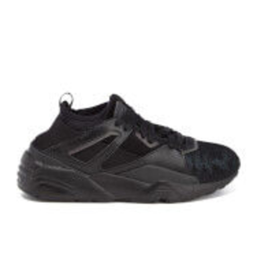 Puma Women's Blaze of Glory Sock Swan Trainers - Black/Black - UK 7