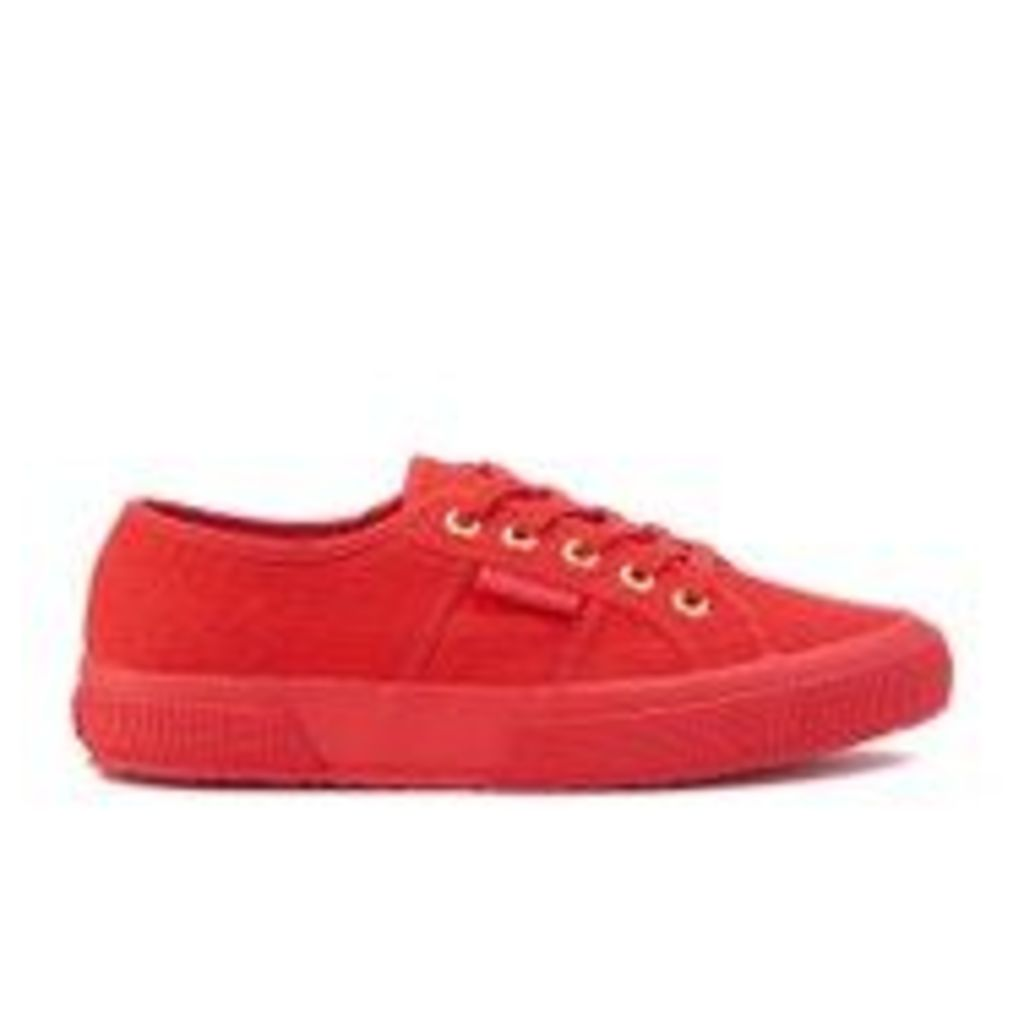 Superga Women's 2750 Cotu Classic Trainers - Red/Gold - UK 4