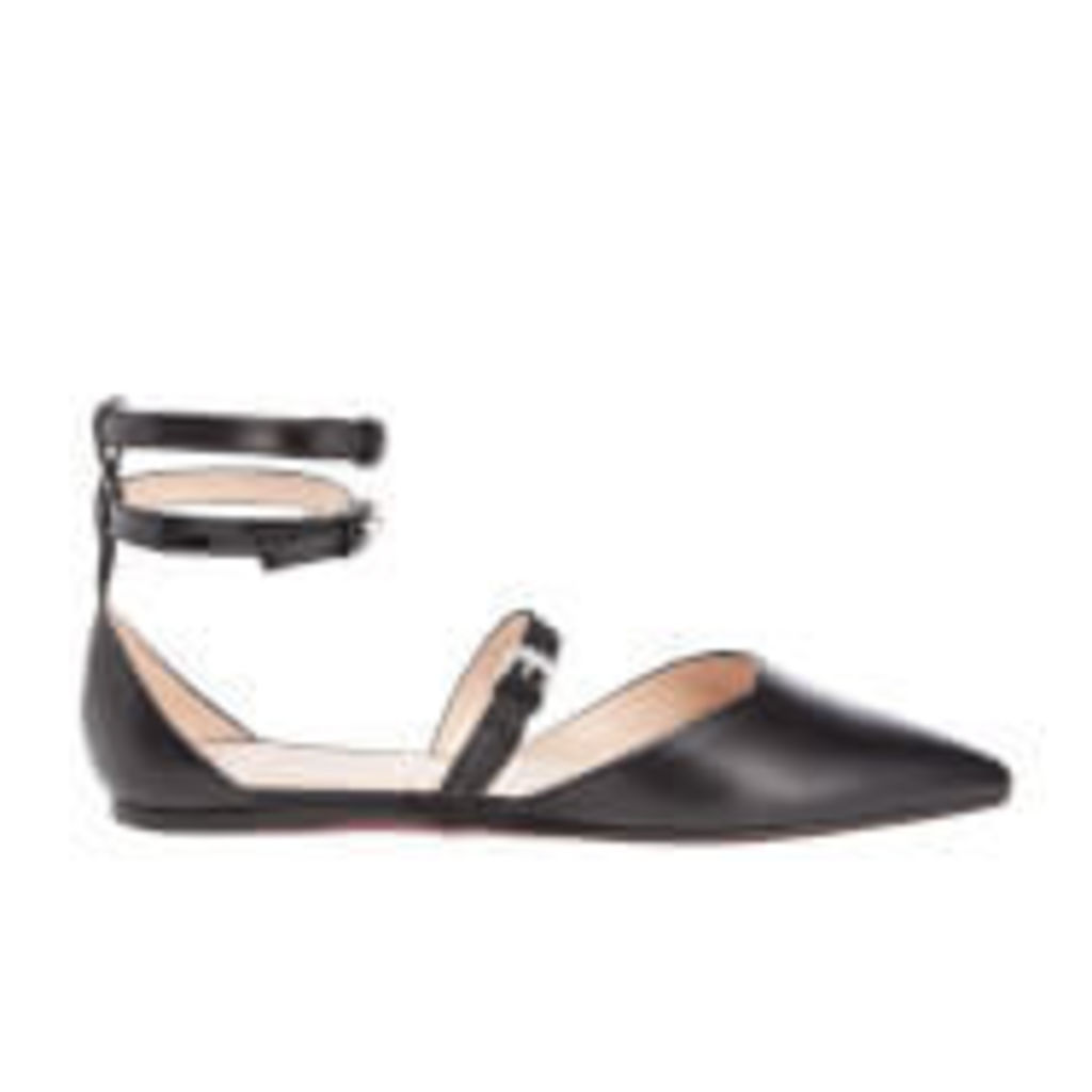PS by Paul Smith Women's Rosie Leather Pointed Flats - Black - UK 5