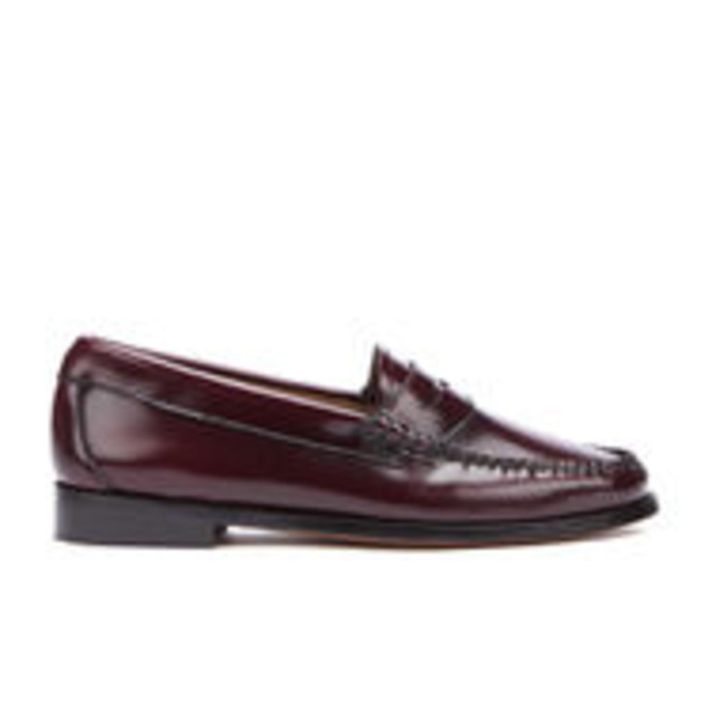 Bass Weejuns Women's Penny Leather Loafers - Wine - UK 3
