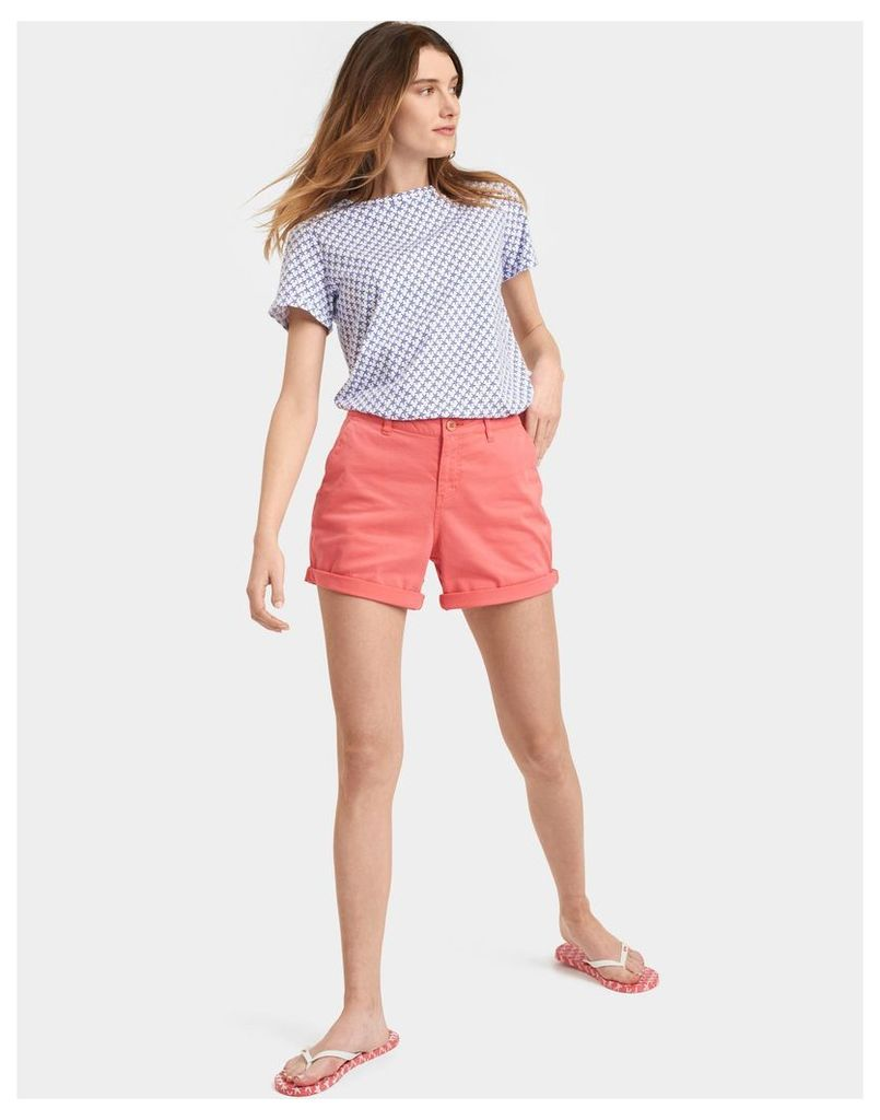 Soft Coral Sandwell Shorts  Size 8 | Joules UK