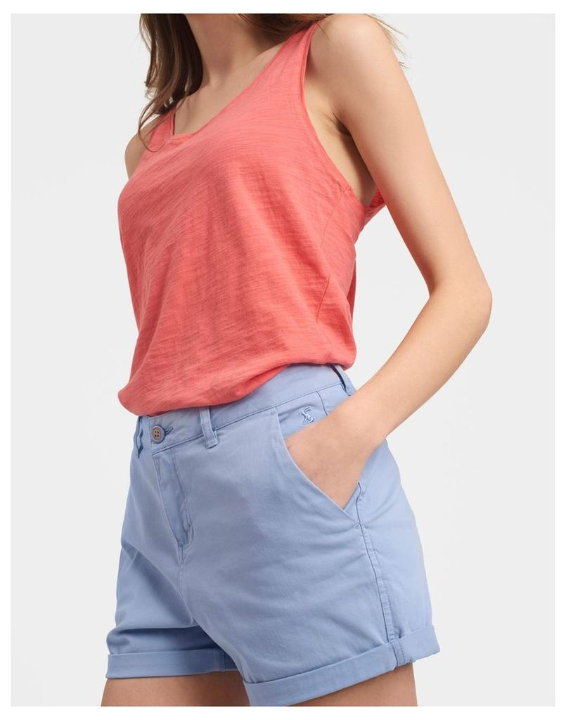 Sky Blue Sandwell Shorts  Size 14 | Joules UK