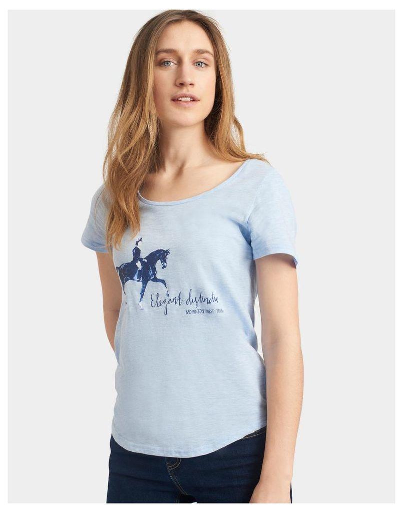 Blue Marl Badminton T-Shirt  Size 12 | Joules UK