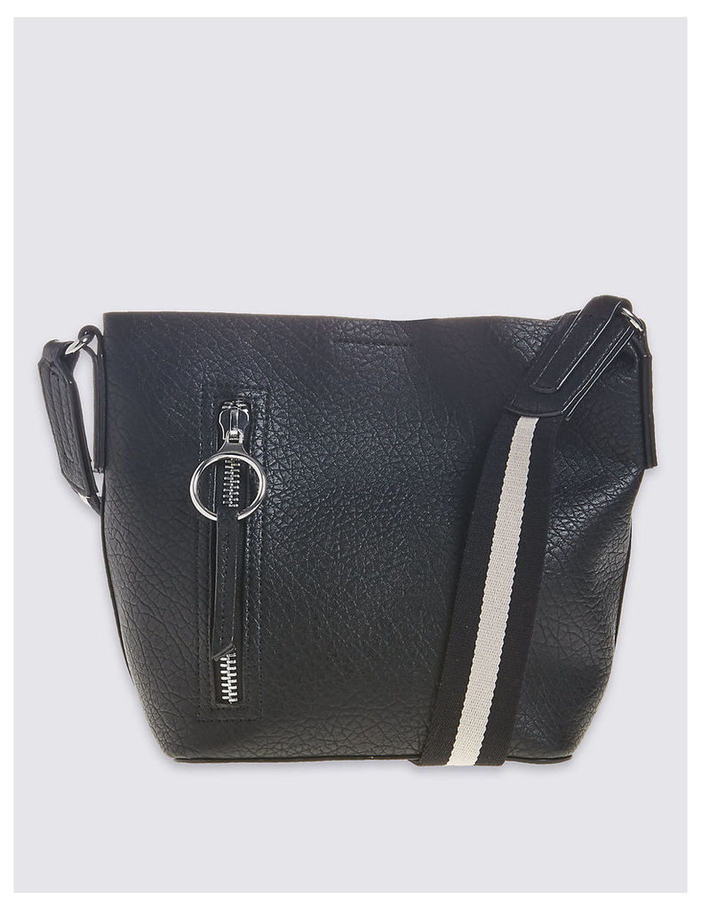 M&S Collection Faux Leather Duffle Bag