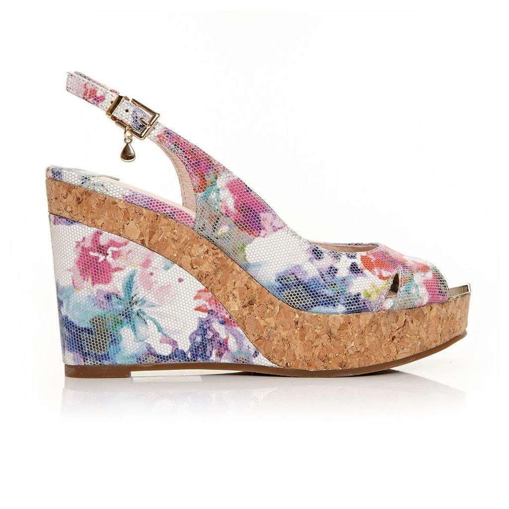 Moda in Pelle Rivas Floral Very High Smart Sandals