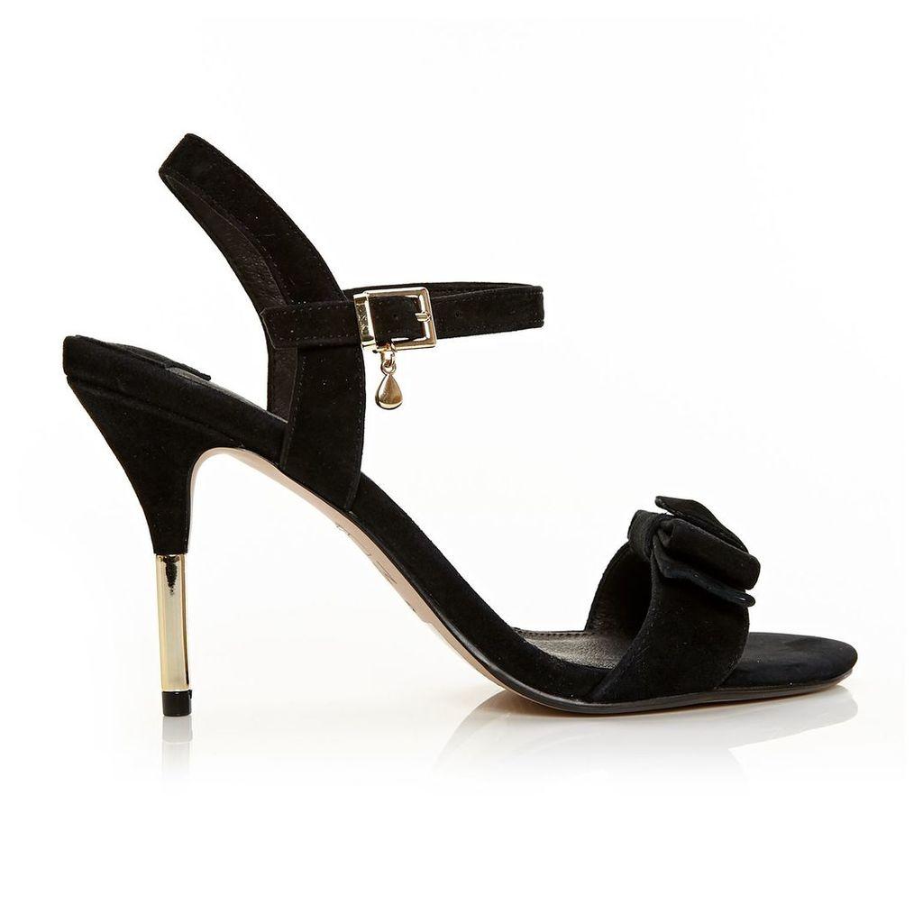 Moda in Pelle Samora Black High Occasion Sandals