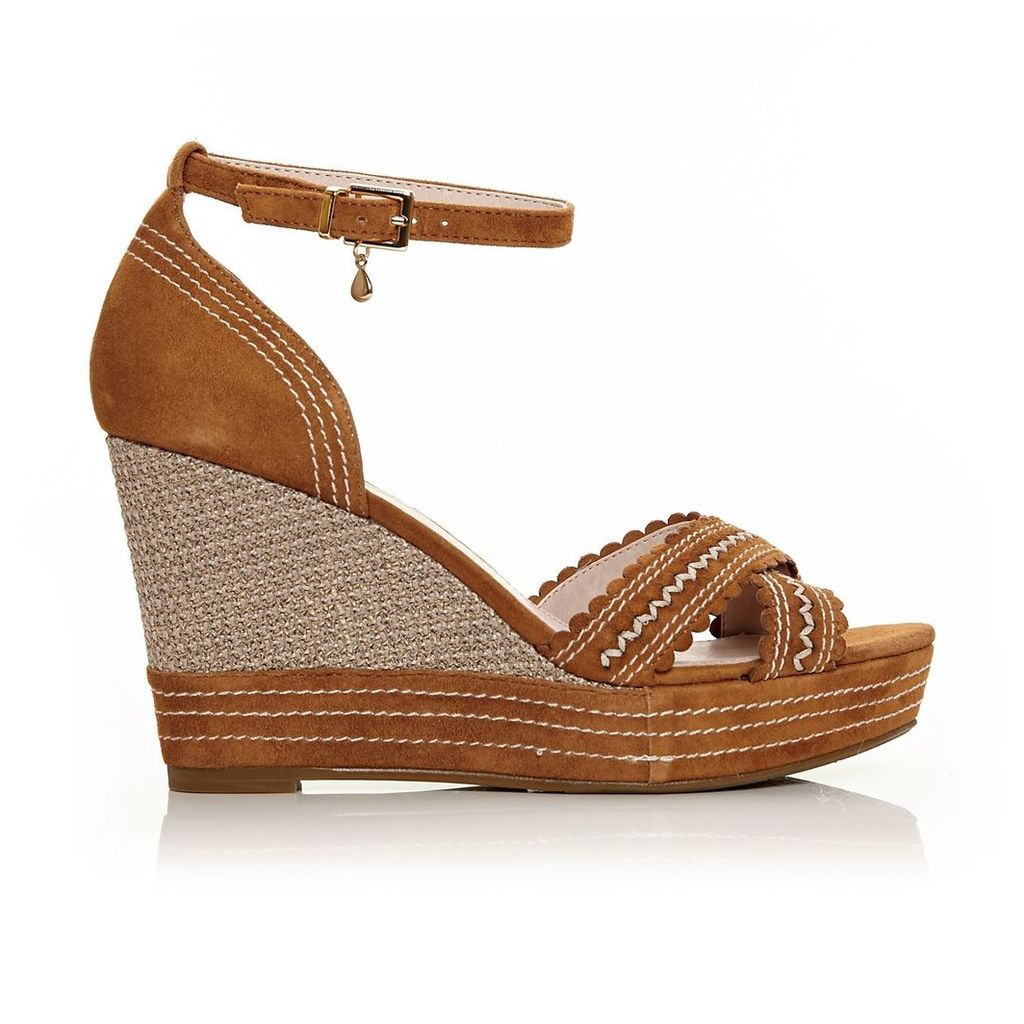 Moda in Pelle Roxas Tan High Smart Sandals