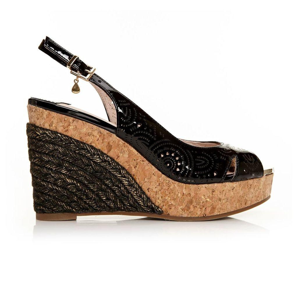 Moda in Pelle Rivas Black Very High Smart Sandals