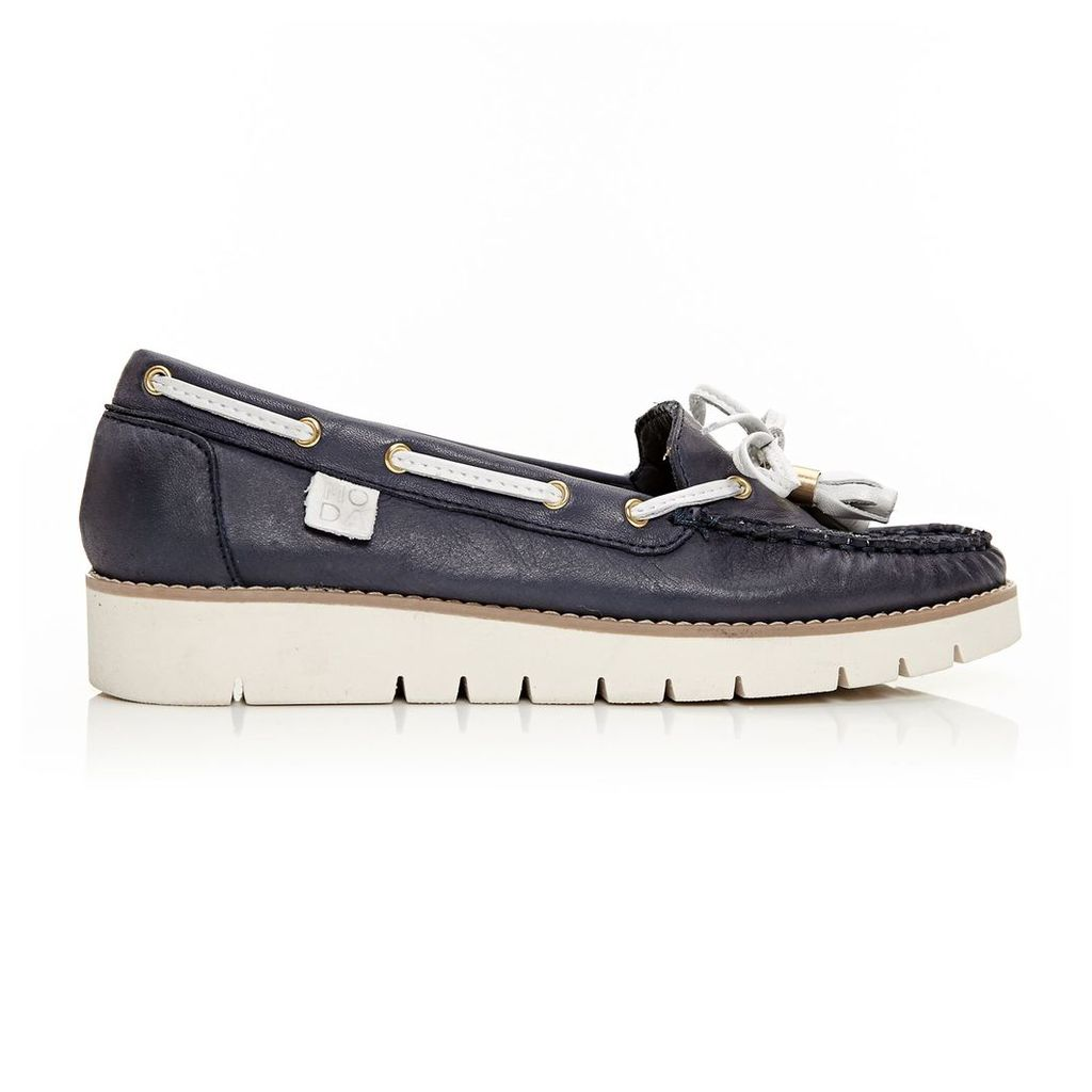 Moda in Pelle Aledos Navy Low Casual Shoes