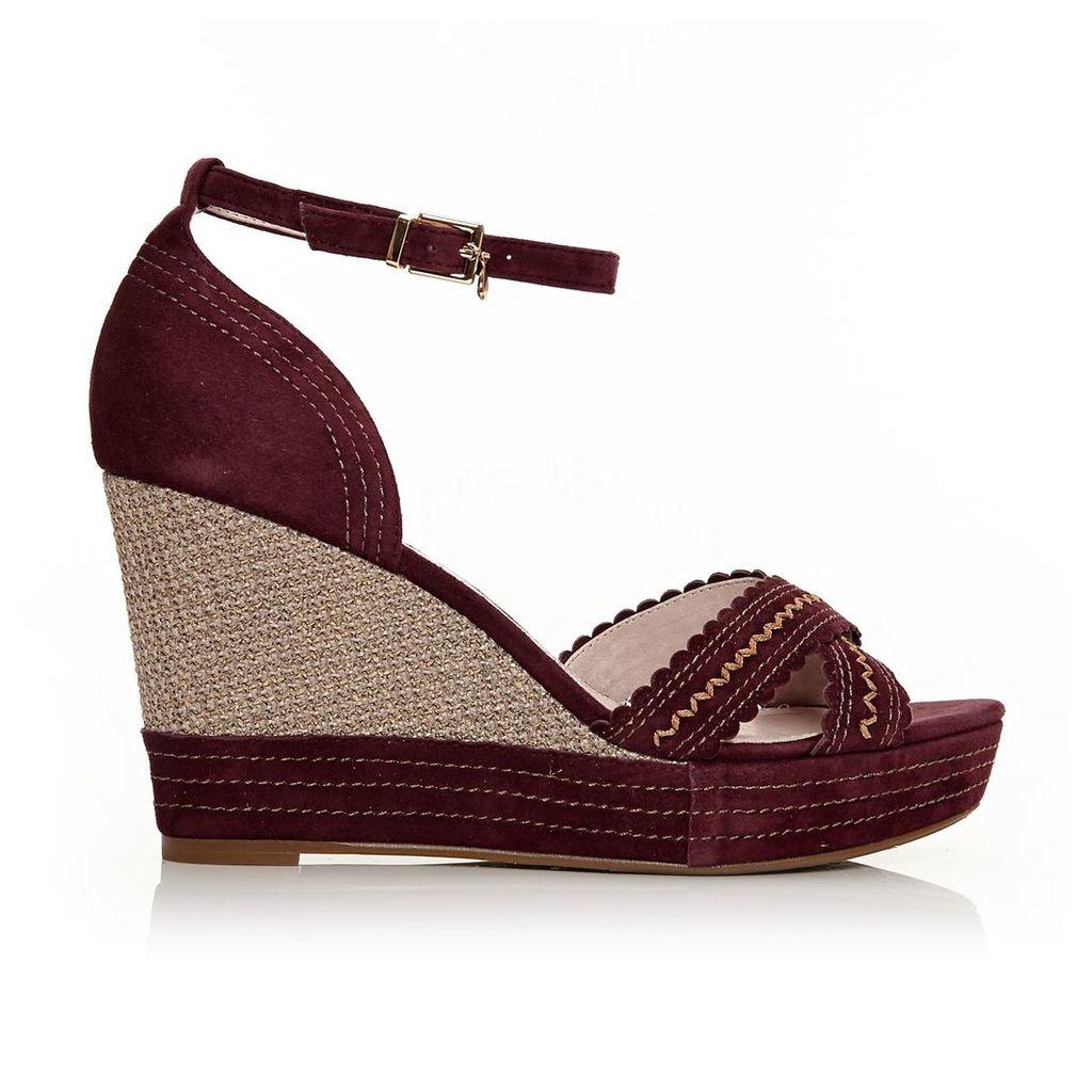 Moda in Pelle Roxas Burgundy High Smart Sandals