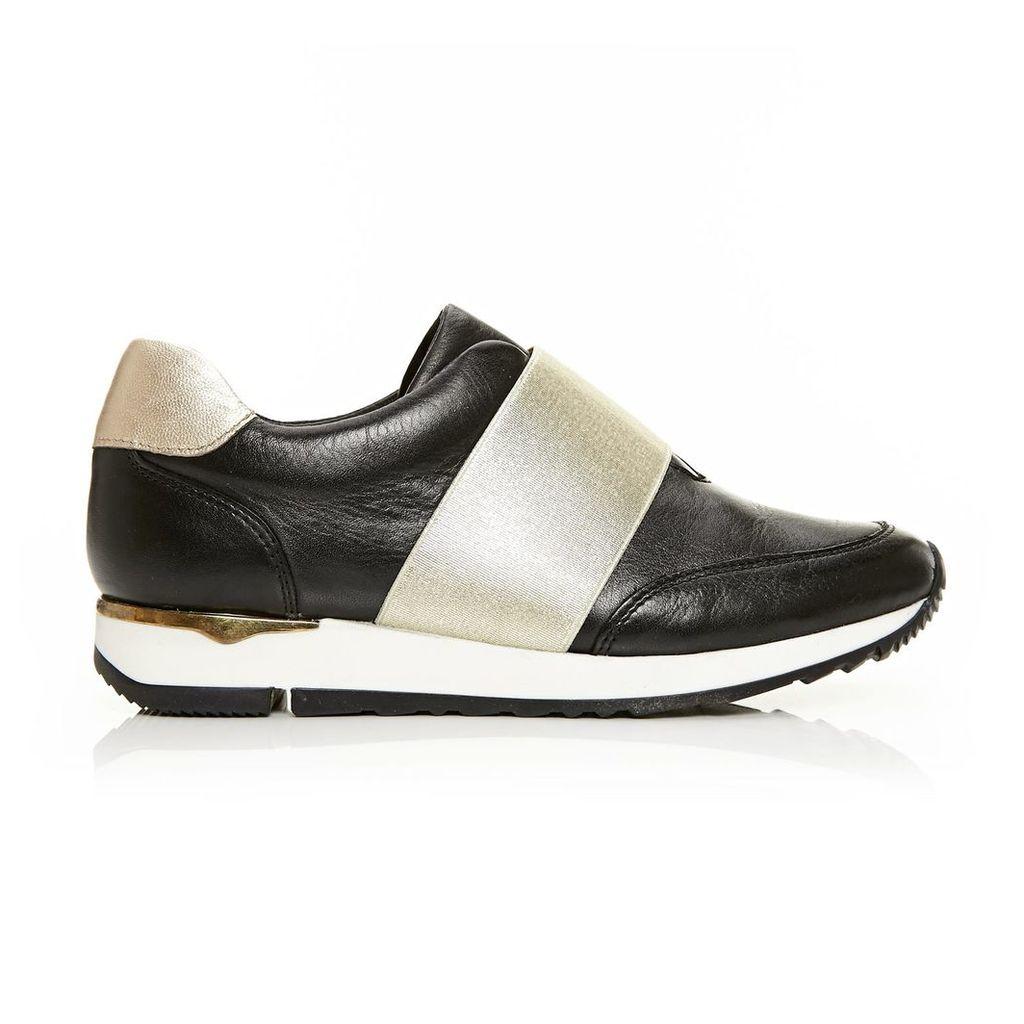 Moda in Pelle Abela Black Low Leisure Shoes