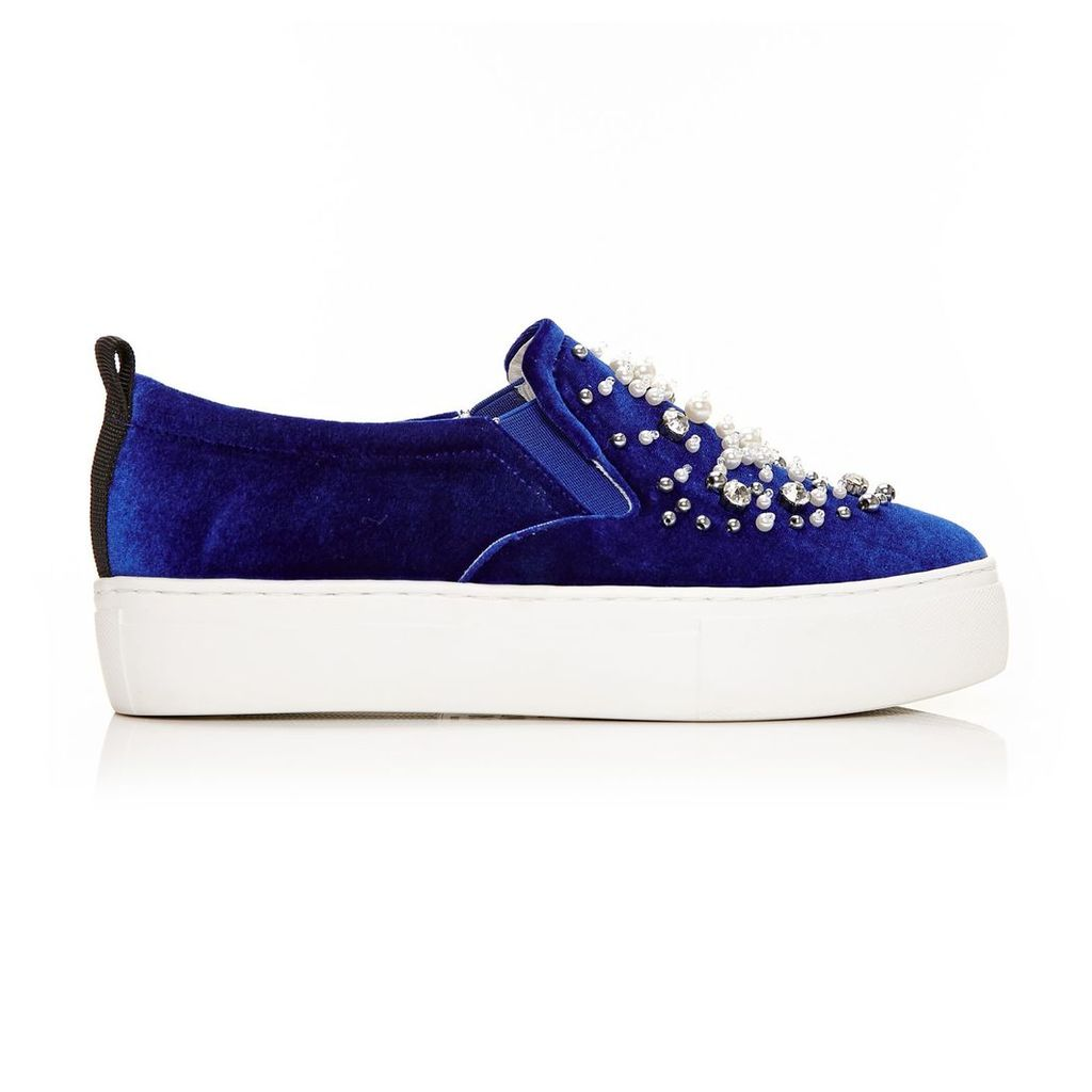 Moda in Pelle Andrie Navy Low Leisure Shoes