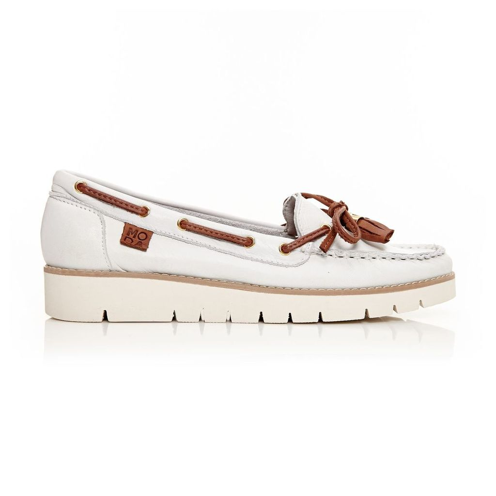 Moda in Pelle Aledos White Low Casual Shoes