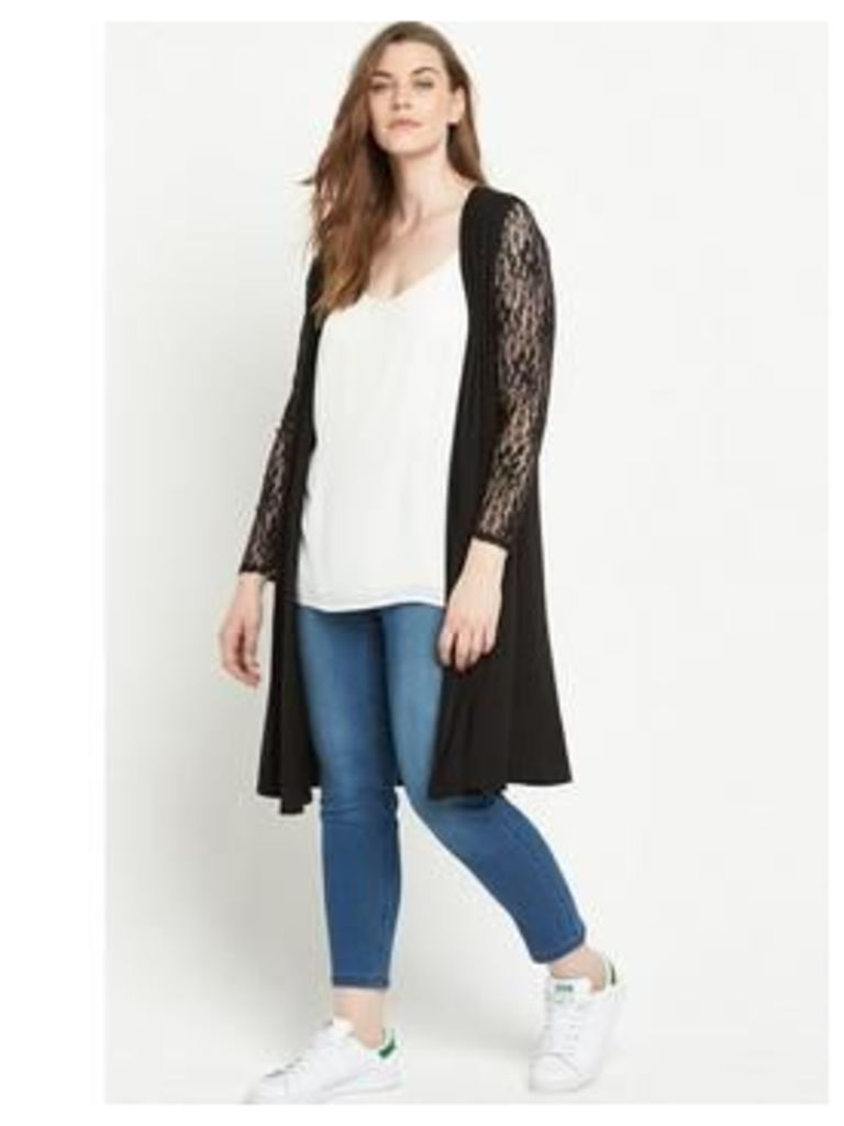 So Fabulous Lace Sleeve Jersey Duster