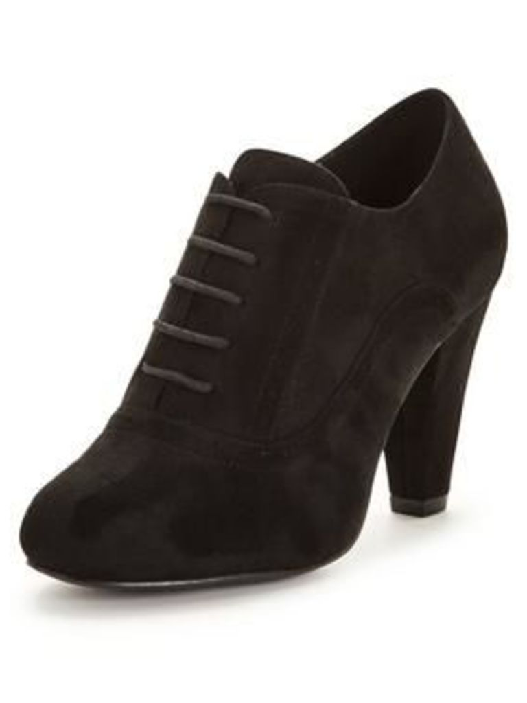 V by Very Clay Lace Up Shoe Boot - Black , Black, Size 5, Women