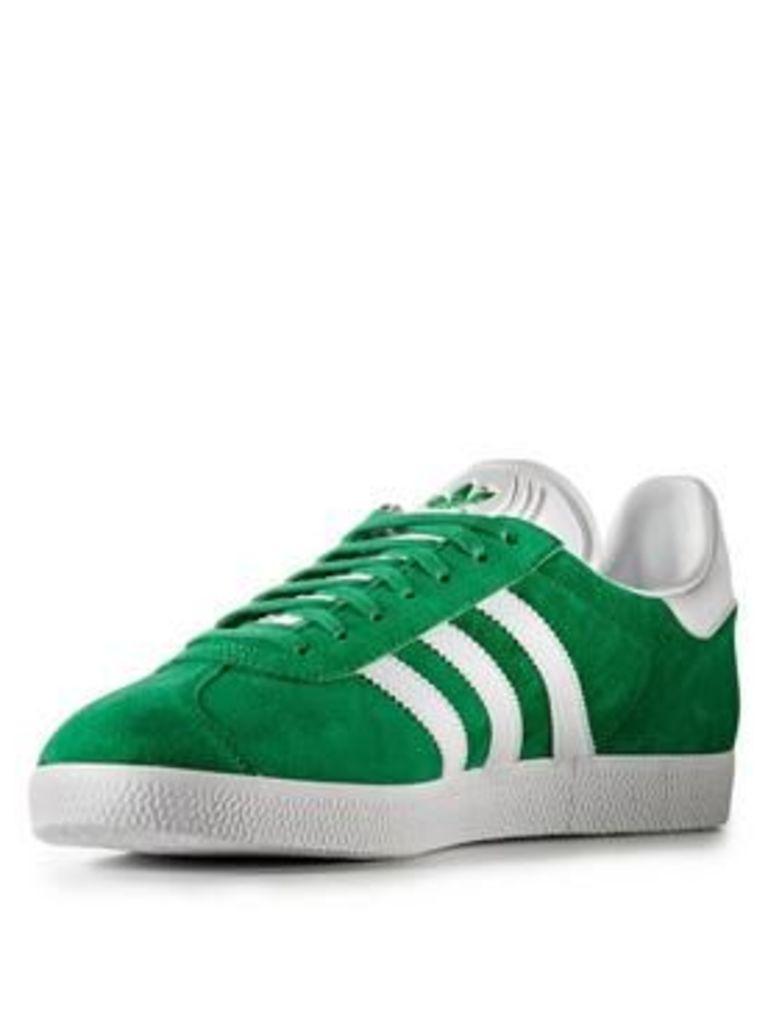 adidas Originals Gazelle, Green/White, Size 12, Women