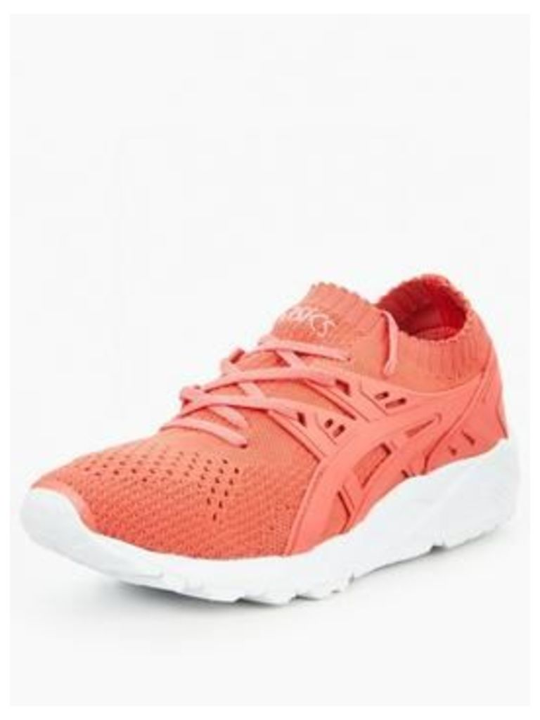 Asics GEL-Kayano Trainer Knit, Peach, Size 8, Women