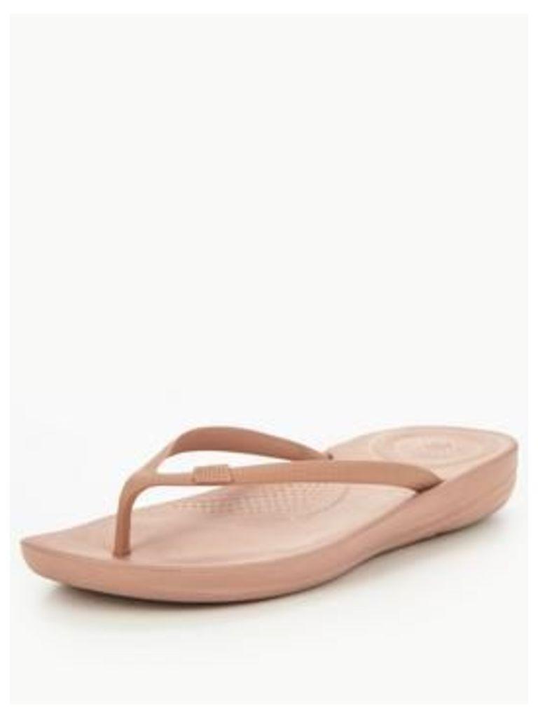 FitFlop Fitflop IQushion Ergonomic Flip Flop Sandal, Nude, Size 8, Women