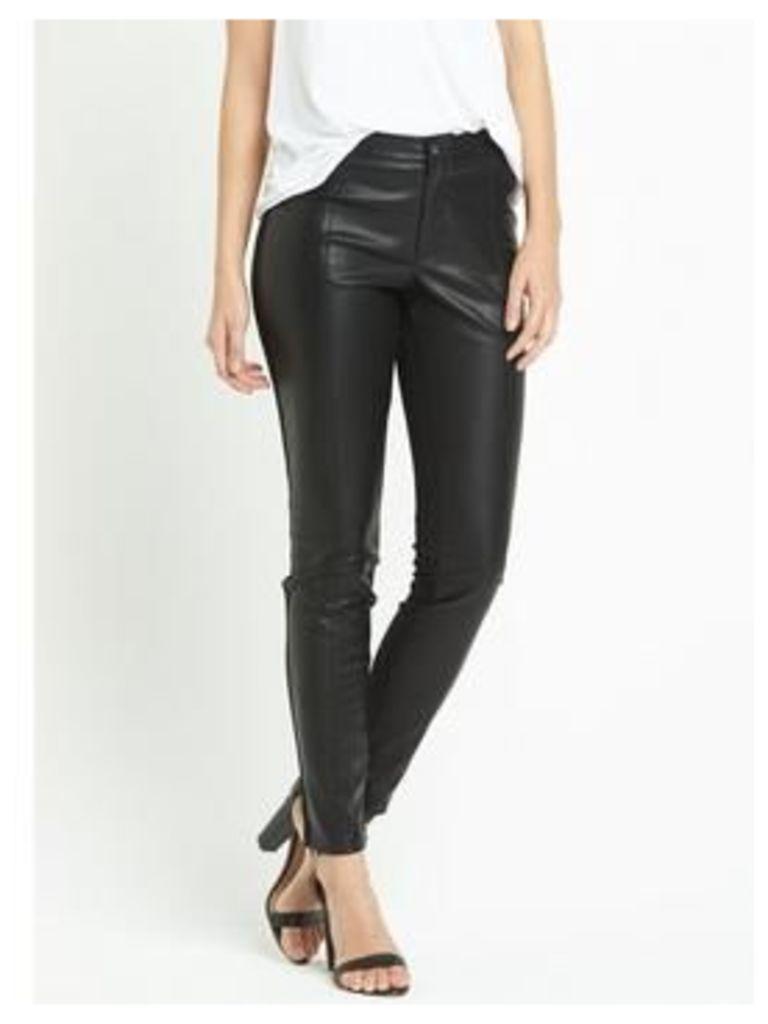 Boss Orange Salegi Leather Look Trouser, Black, Size 16, Women