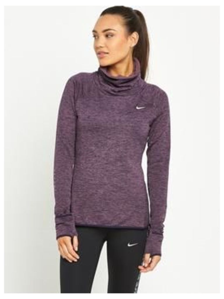 Nike Therma Sphere Element Running Top, Purple, Size M, Women