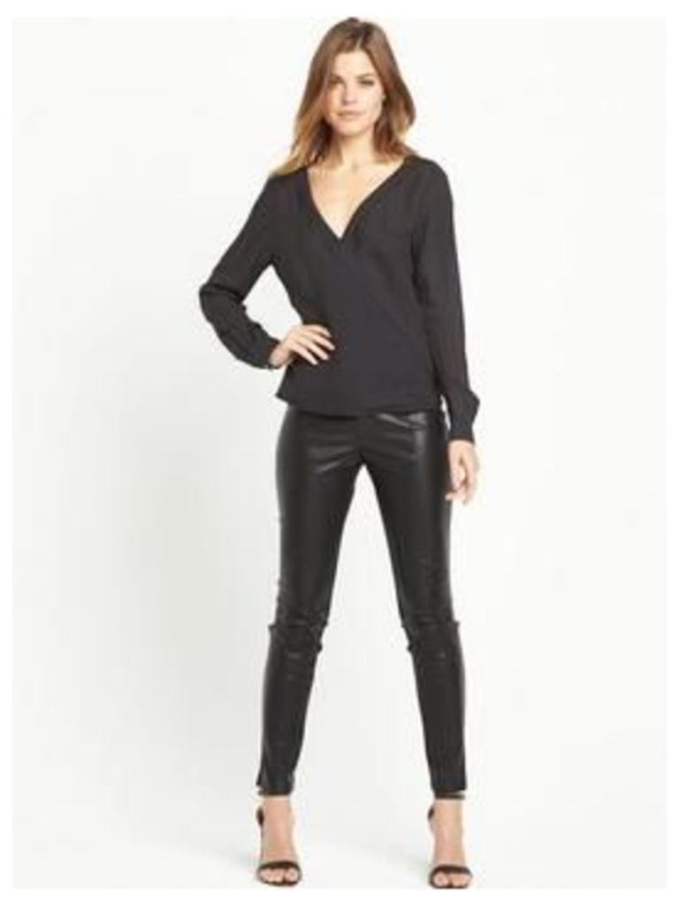 Boss Orange Euthalia 2 Blouse, Black, Size 10, Women