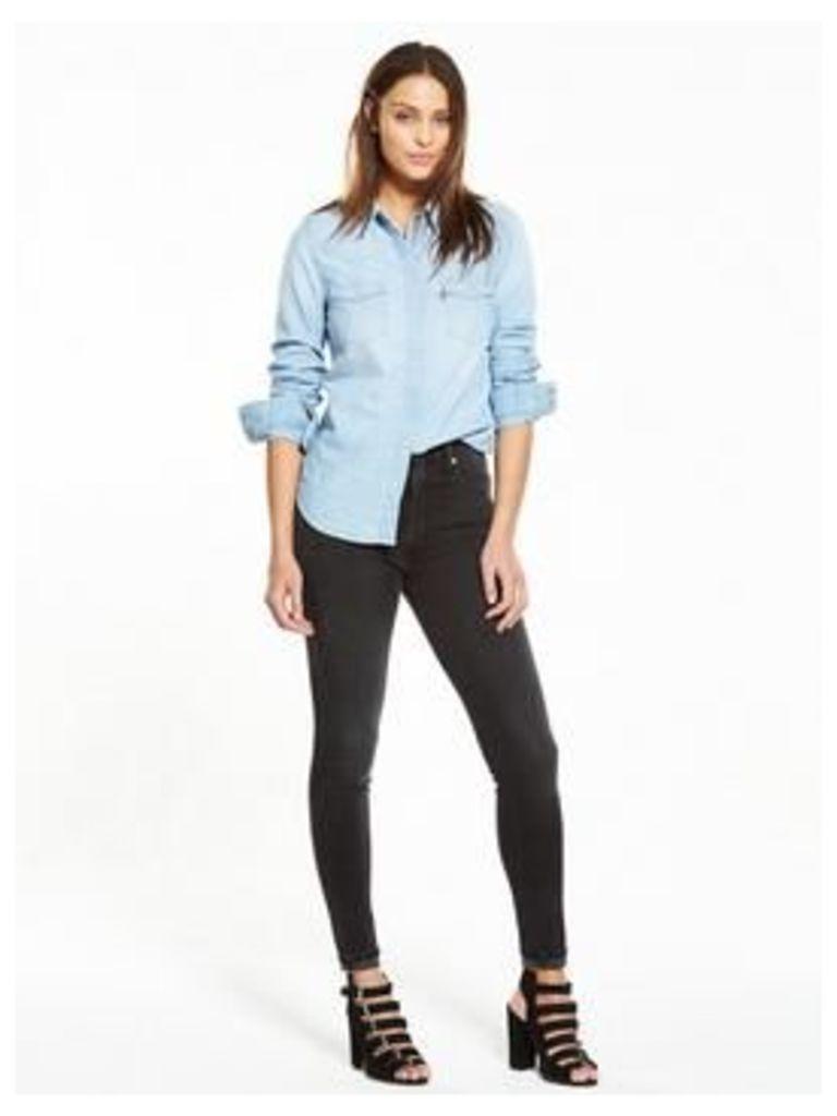 Levi's Modern Western Shirt - Grunge Blue, Grunge Blue, Size L, Women