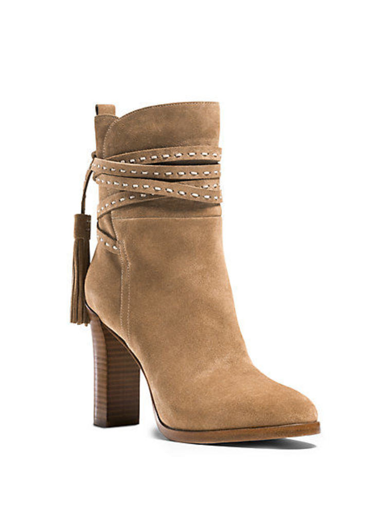 Palmer Ankle-Wrap Suede Boot