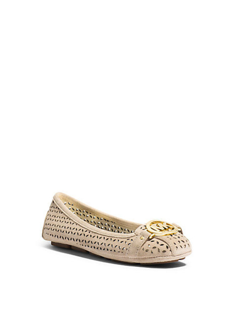 Fulton Perforated Suede Moccasin