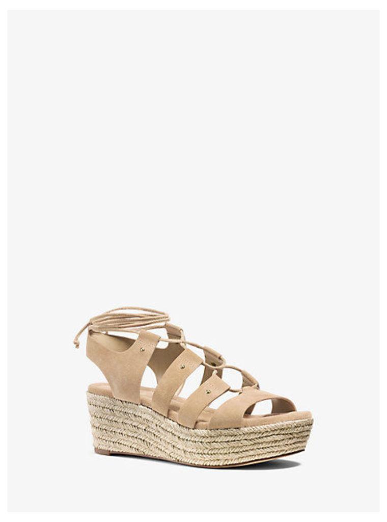 Sofia Suede Flatform Sandal
