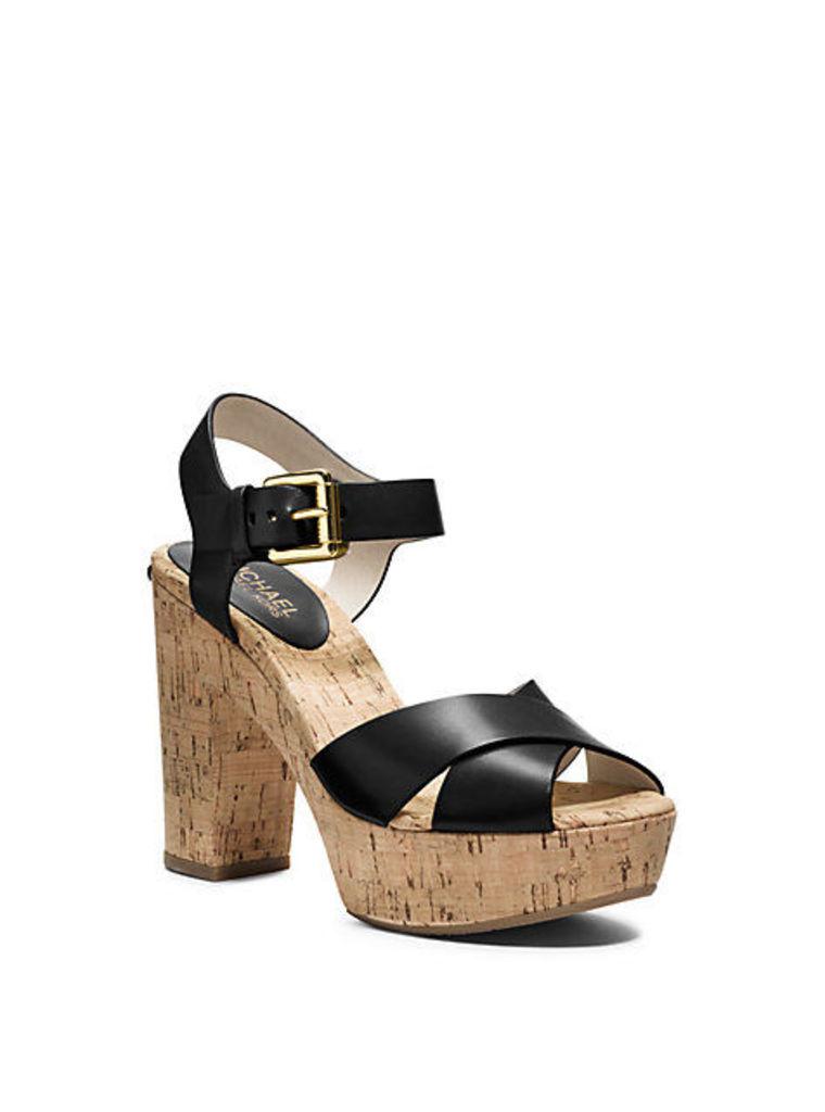 Natalia Leather Platform Sandal