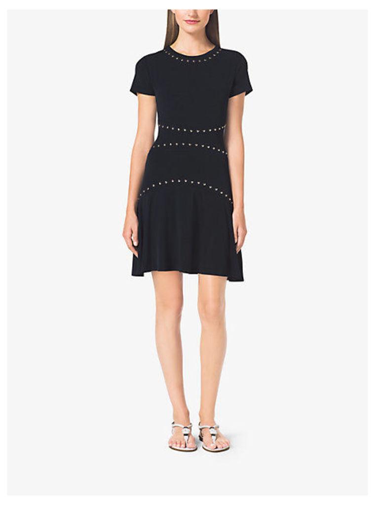 Studded Seamed Dress