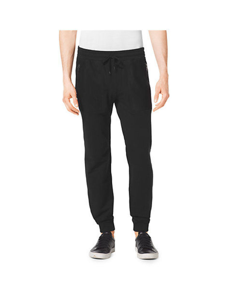 Stretch-Cotton Track Pants