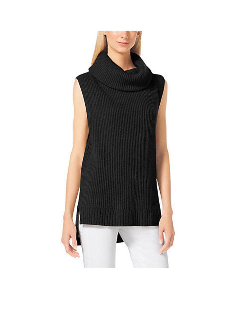 Sleeveless Merino Wool And Cashmere Sweater