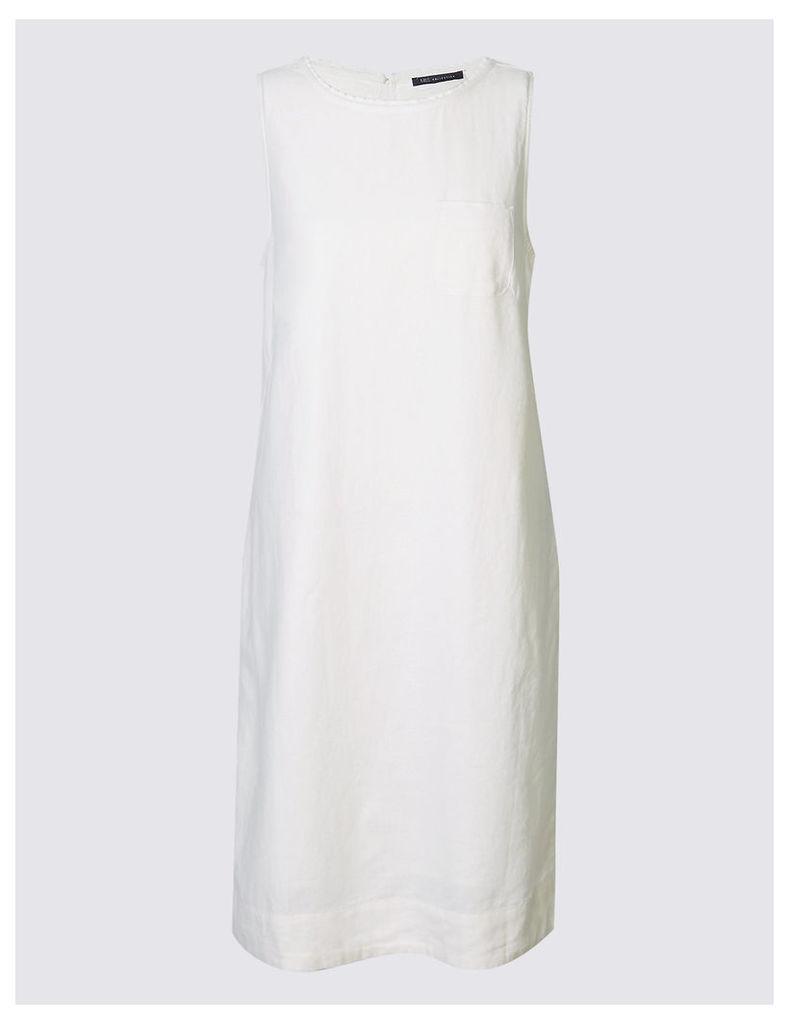 M&S Collection Linen Blend Tunic Dress