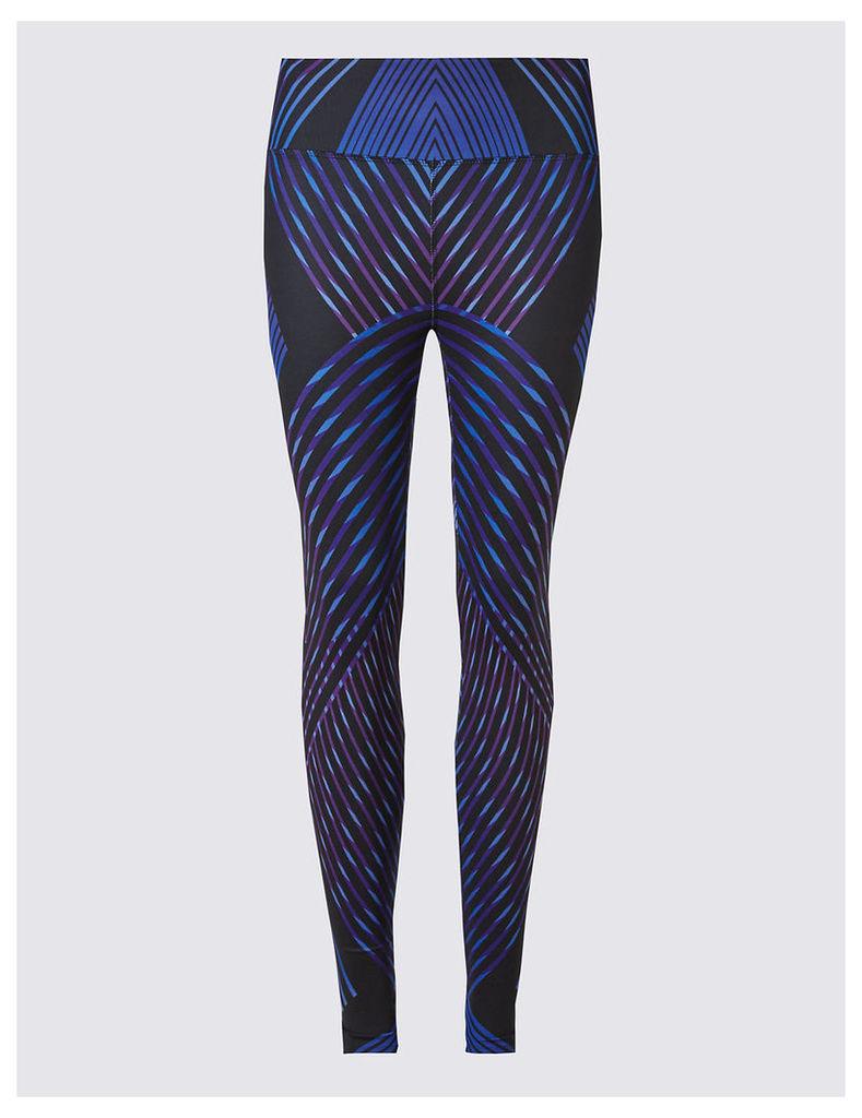 M&S Collection Performance Line Print Leggings