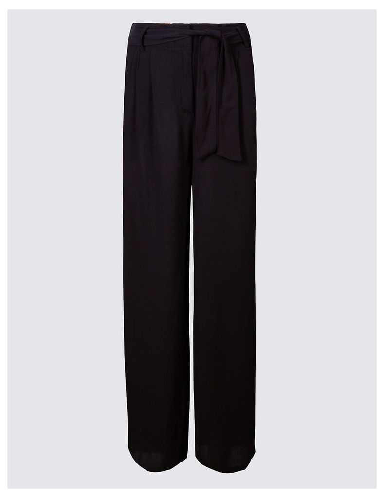M&S Collection Crepe Wide Leg Trousers