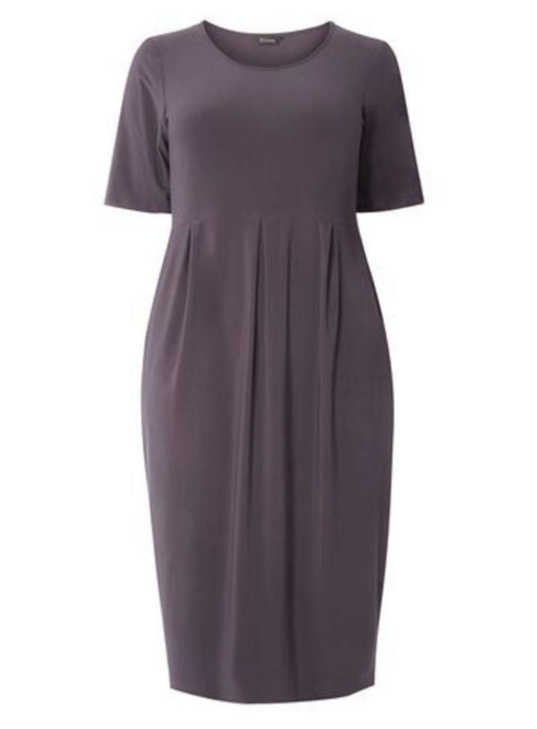 Grey Longline Pocket Shift Dress, Grey