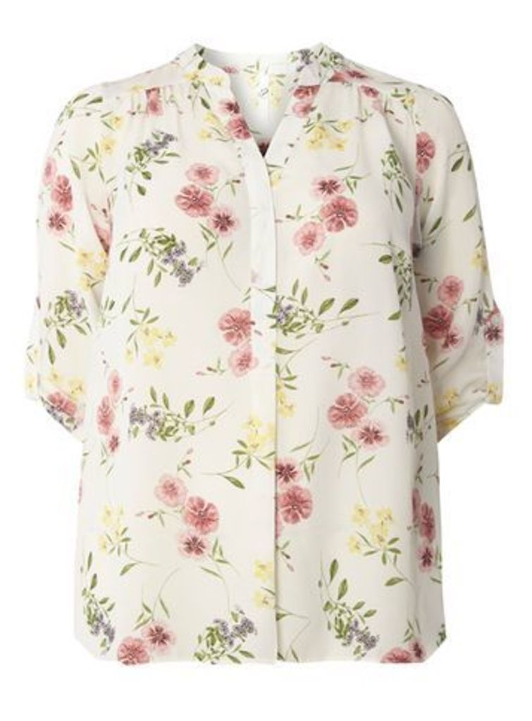 Ivory Busty Fit Floral Shirt, Dark Multi