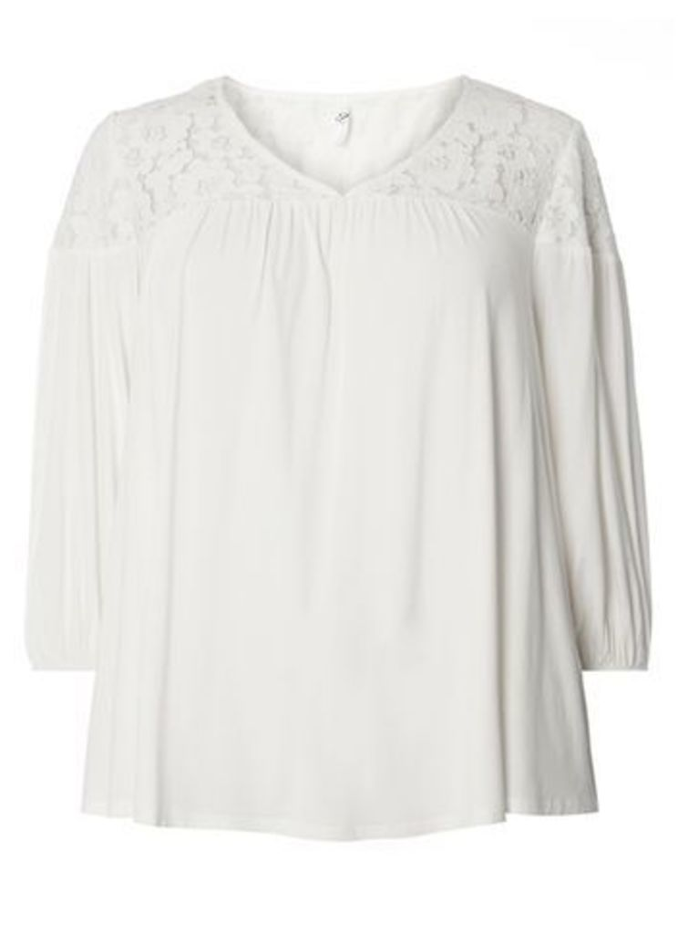 Ivory Lace Top, Ivory
