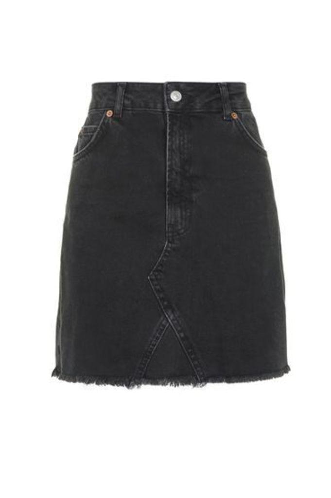 Womens TALL Highwaisted Skirt - Washed Black, Washed Black