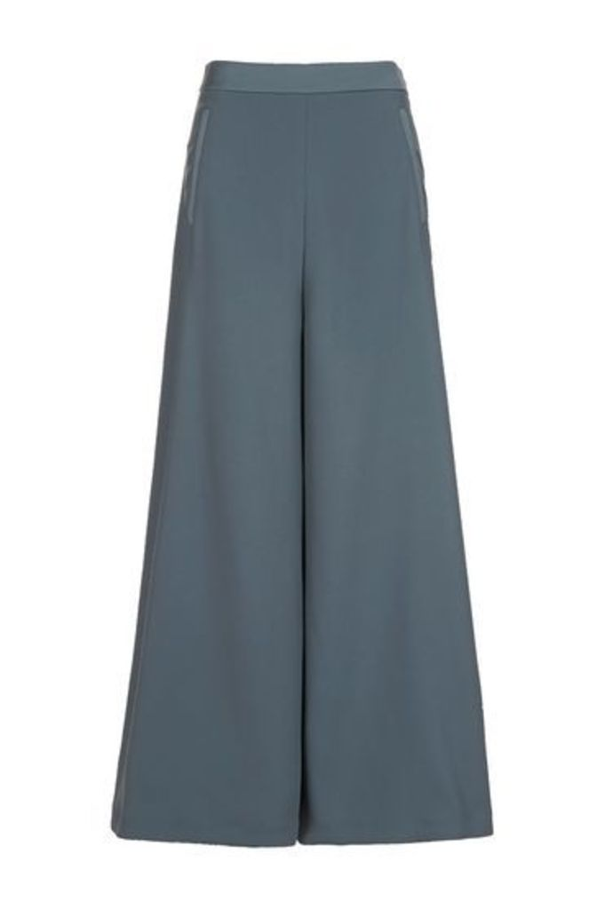Womens Palazzo Trousers - Silver Blue, Silver Blue