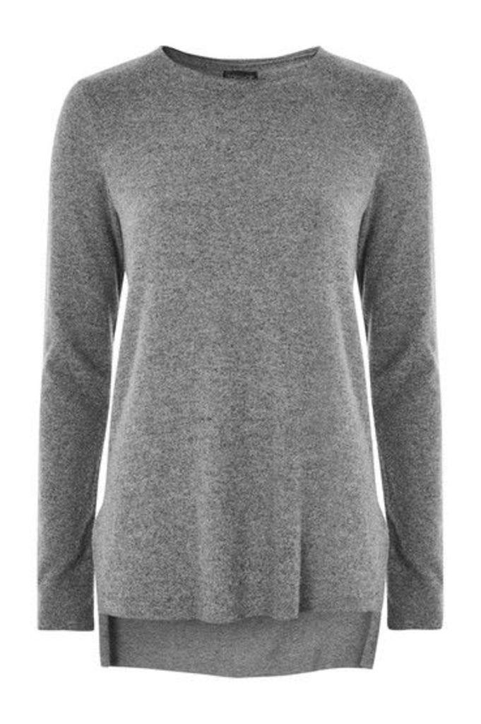 Womens Cut And Sew Sweatshirt - Grey Marl, Grey Marl