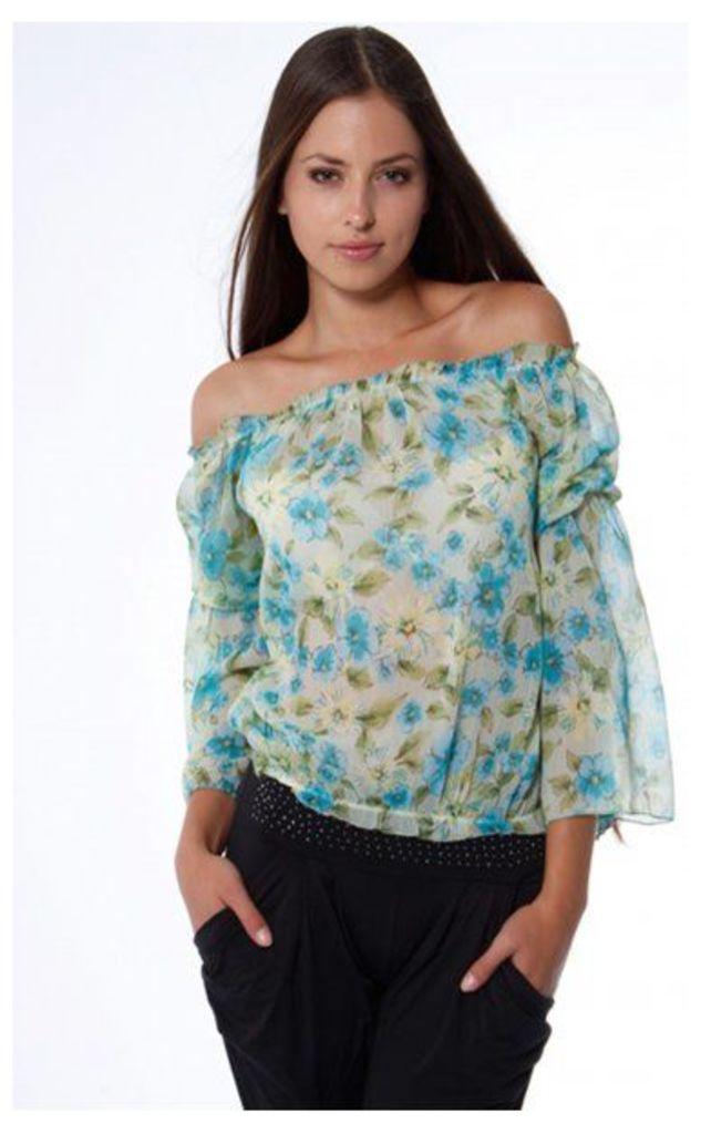 Jenna Angel Sleeve Blouse