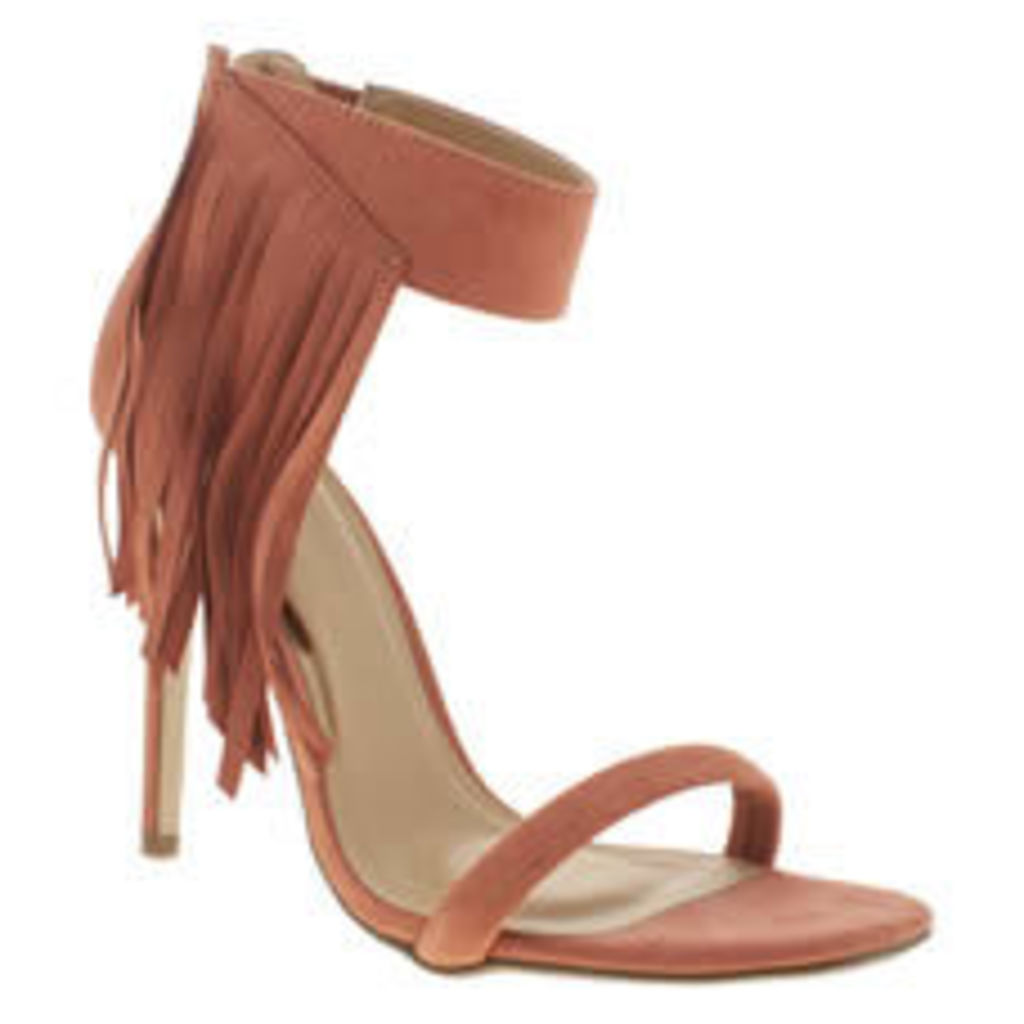 Missguided Coral Asymmetric Tassle Womens High Heels