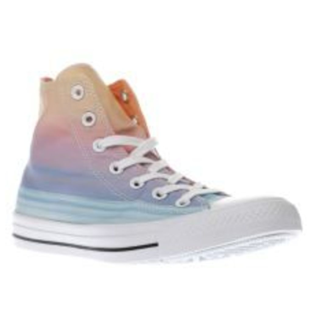 Converse Orange & Blue Chuck Taylor As Sunset Hi Womens Trainers