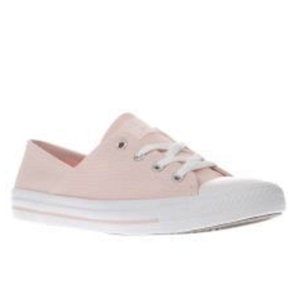 Converse Pale Pink Coral Micro Dot Knit Womens Trainers